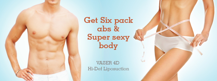 VASER 4D Hi-Def Liposuction six abs